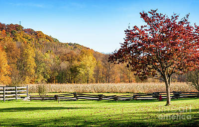 Photograph - Bedford, Pa Fall Landscape by Kathleen K Parker