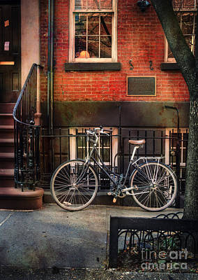 Photograph - Bedford Street Bicycle by Craig J Satterlee