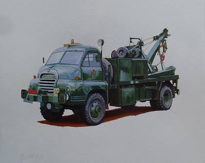 Bedford Painting - Bedford Wrecker Afs by Mike Jeffries
