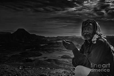 Orientalist Digital Art - bedouin Abo Talal by Ahmed Shafy
