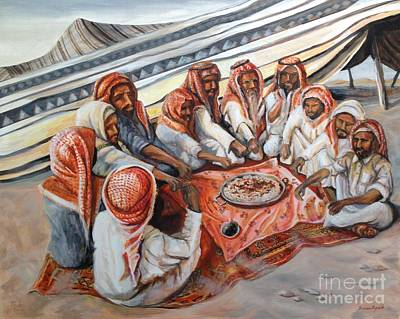 Painting - Bedouin At Dusk by Yvonne Ayoub