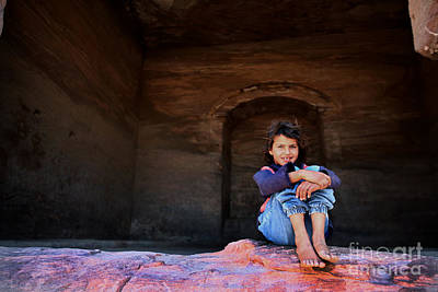 Archaelogy Photograph - Bedouin Girl by Michael Nelson