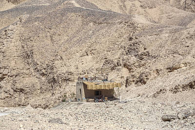 bedouin house in the desert in Egypt Art Print