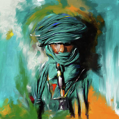 Painting - Bedouin Man 453 I by Mawra Tahreem