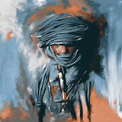 Bedouin Painting - Bedouin Man 453 II by Mawra Tahreem