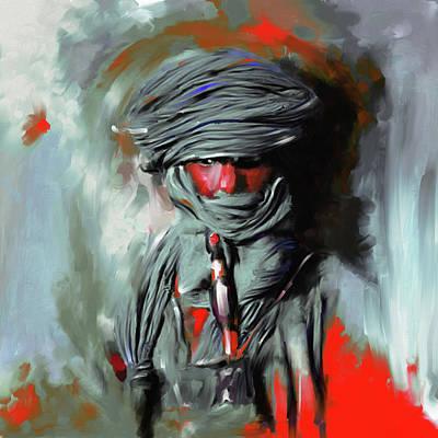 Sinai Painting - Bedouin Man 453 IIi by Mawra Tahreem