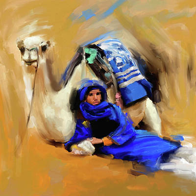 Painting - Bedouin Man 679 1 by Mawra Tahreem