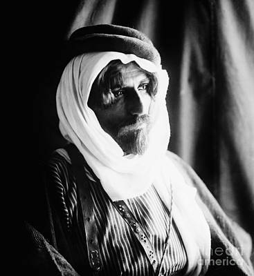 Photograph - Bedouin Man, C1910 by Granger