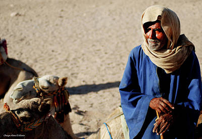 Photograph - Bedouin Man In Blue by Chaza Abou El Khair