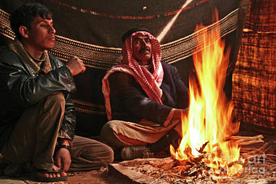 Photograph - Bedouins At Wadi Rum by PJ Boylan