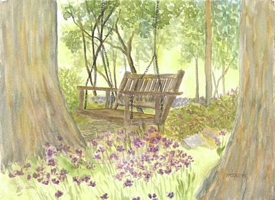 Painting - Bedrock Garden Swin At Rest  by Roseann Meserve