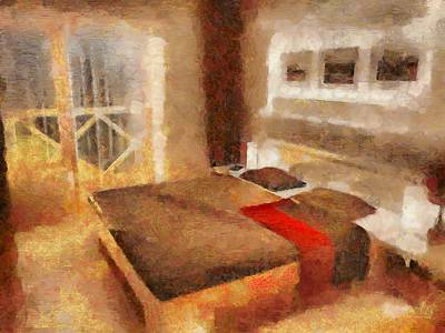 Digital Art - Bedroom A Moderne by Mario Carini