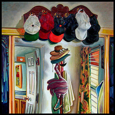 Baseball Scene Painting - Bedroom Composition by Karen Fulk