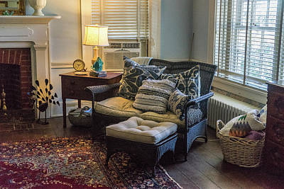 Photograph - Bedroom Sitting Area Circa Mid 1800s by Douglas Barnett