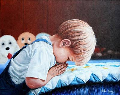 Painting - Bedtime Prayer by Mike Ivey