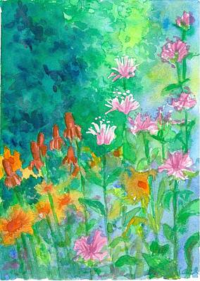 Painting - Bee Balm Garden by Cathie Richardson