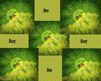 Photograph - Bee Busy Busy Bee  by LeeAnn McLaneGoetz McLaneGoetzStudioLLCcom