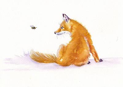 Vixen Painting - Bee Charmed by Debra Hall