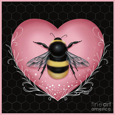 Digital Art - Bee by Curiobella- Sweet Jenny Lee