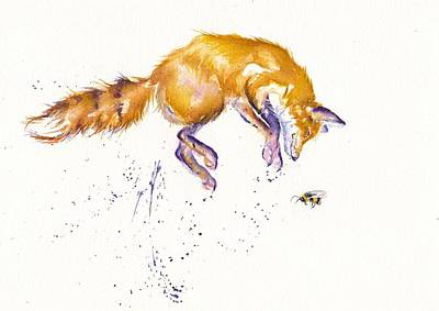 Painting - Bee For The High Jump by Debra Hall