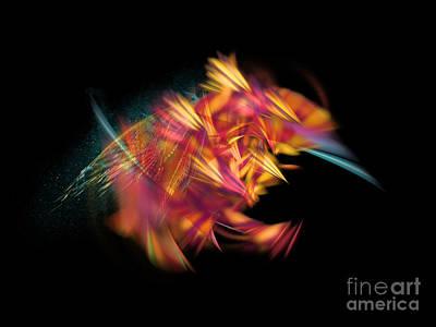 Red Digital Art - Bee Fractal Art by Justyna JBJart