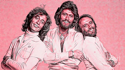 Bee Mixed Media - Bee Gees Collection by Marvin Blaine