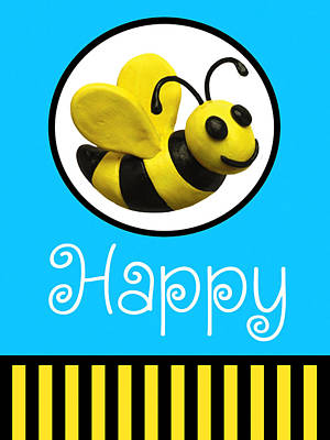 Claymation Sculpture - Bee Happy by Amy Vangsgard