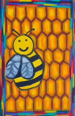 Bee Happy Original by Elizabeth Dawson