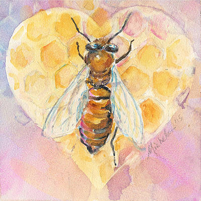 Painting - Bee Heart by Anne Michelsen