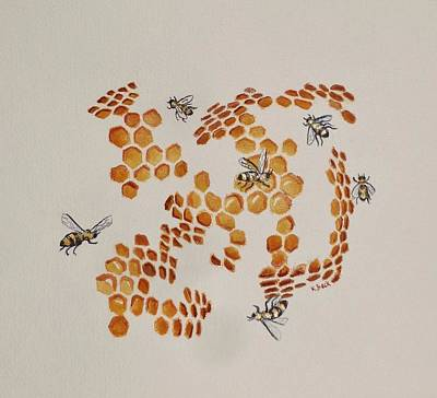 Painting - Bee Hive # 3 by Katherine Young-Beck