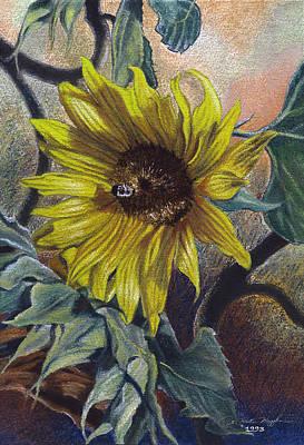 Peter Muzyka Wall Art - Painting - Bee In A Bonnet by Peter Muzyka