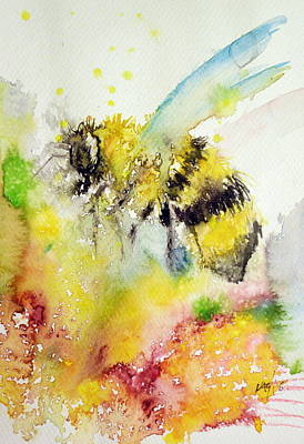 Honey Painting - Bee by Kovacs Anna Brigitta