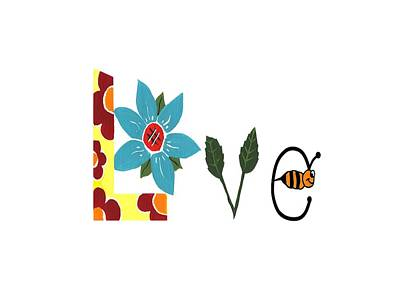 Mixed Media - Bee Love by Kathleen Sartoris