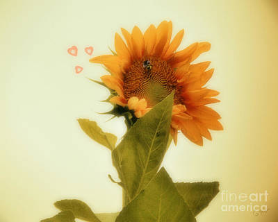 My Big Day Photograph - Bee Mine by Anita Faye