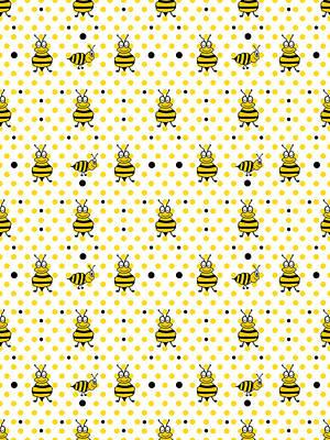 Digital Art - Bee Nice Pattern by Kathleen Sartoris