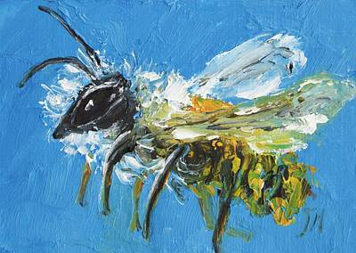 Abstract Insect Painting - Bee Painting by Jan Matson