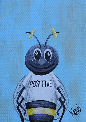 Painting - Bee Positive School Picture by Kerri Ertman
