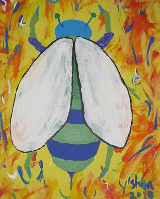 Art Print featuring the painting Bee Reimagined by Yshua The Painter