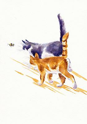 Bee Stalking Original by Debra Hall