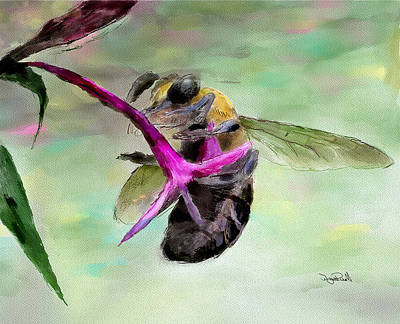 Painting - Bee Still by Wayne Pascall