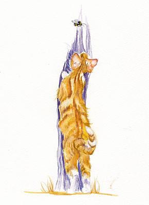 Bee Stretched Original by Debra Hall