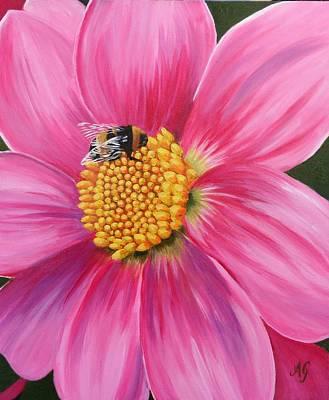 Painting - Bee-utiful 2 by Anne Gardner