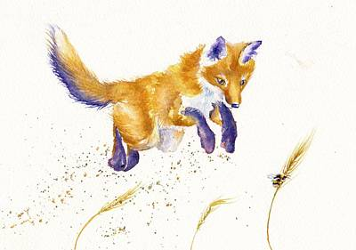 Red Fox Painting - Bee Young by Debra Hall