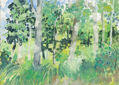 Painting - Beech And Oak Forest,nature Diary by Martin Stankewitz