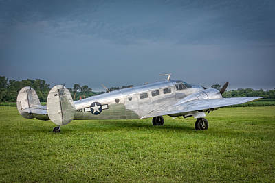 Photograph - Beech C-45h by Guy Whiteley