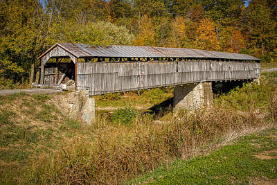 Beech Fork Or Mooresville Covered Bridge Art Print