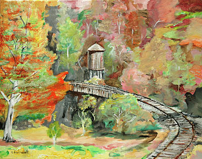 Oneida Painting - Beech Fork Water Tank by L Gail Garrett