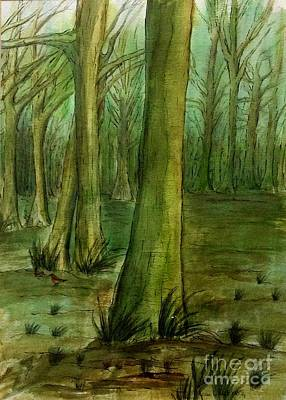 Painting - Beech Woods by Joan-Violet Stretch