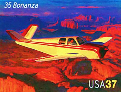 Beechcraft Bonanza Painting - Beechcraft 35 Bonanza by Lanjee Chee