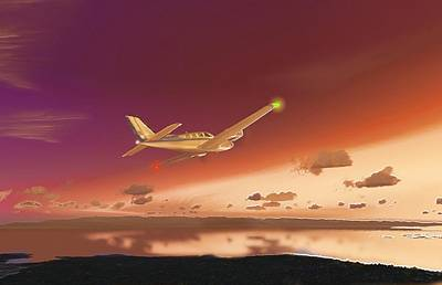 Digital Art - Beechcraft Baron 58 3 by Marcello Cicchini